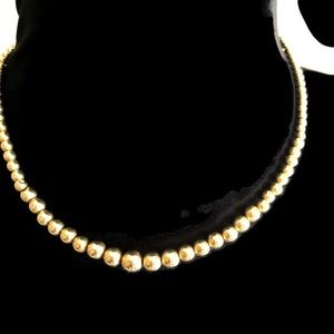 14K Gold Graduated Bead Necklace